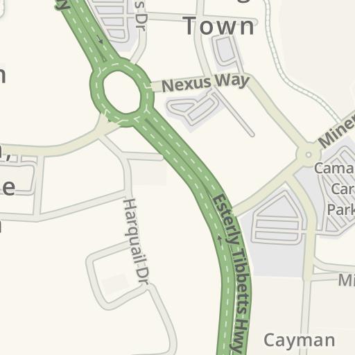 Camana Bay Map on