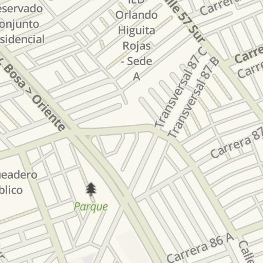 Waze Livemap - Cómo llegar a Surtimax Bosa La Paz, Bogota, Colombia