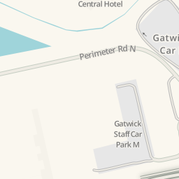 Waze Livemap Driving Directions to Gatwick North Terminal Short