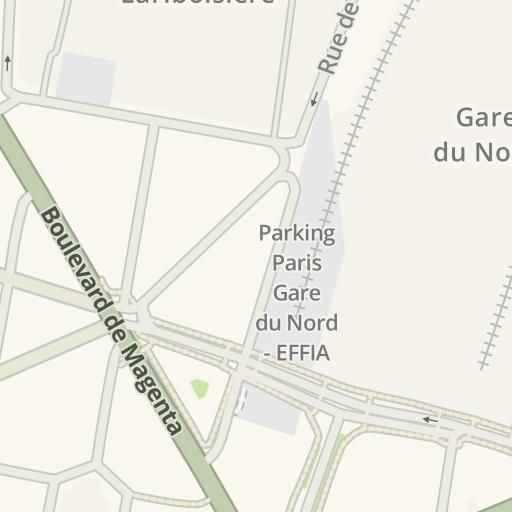 Gard Du Nord Paris Map.Waze Livemap Driving Directions To Mcdonald 39 S Gare Du Nord