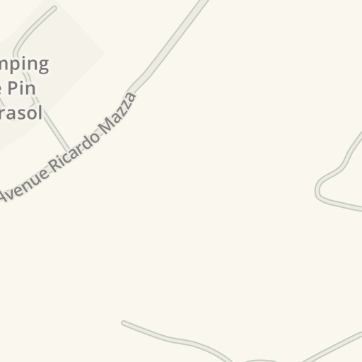 Waze Livemap - Driving Directions to Camping Le Pin Parasol, Saint