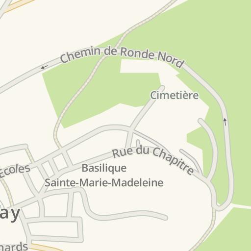 Vezelay France Map.Waze Livemap Driving Directions To Place Borot Vezelay France