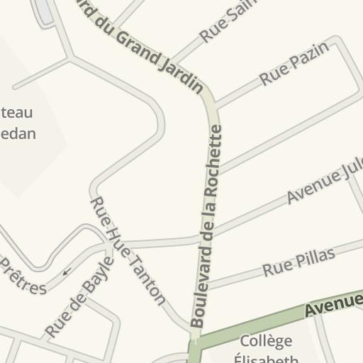Waze Livemap Driving Directions To Garage Fleuranges Sedan France