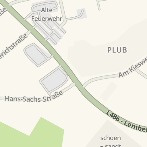 Waze Livemap Driving Directions To Club 1 Pirmasens Germany