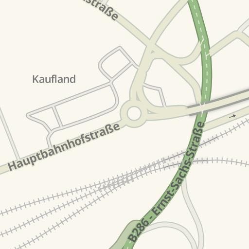 Waze Livemap Driving Directions To Kaufland Schweinfurt Germany