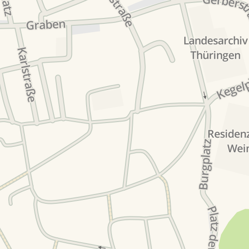 Waze Livemap Driving Directions To Jakobsfriedhof Weimar Germany