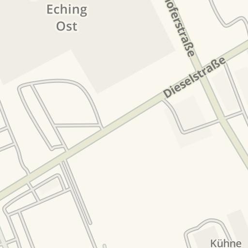 Waze Livemap Driving Directions To Kuchenmarkt Eching Eching