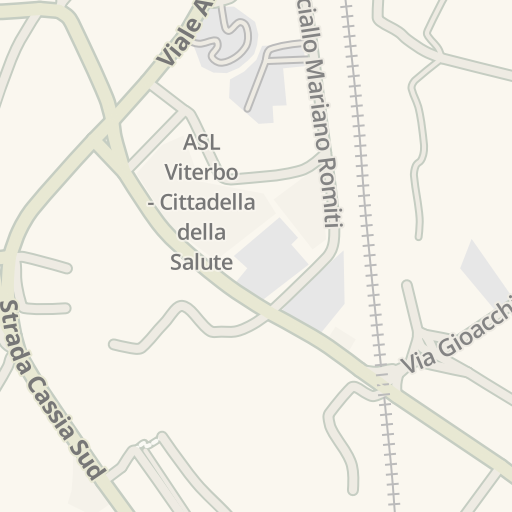 Waze Livemap Driving Directions To P Viterbo Italy