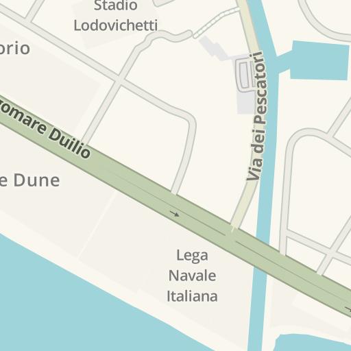 Waze Livemap Driving Directions To Coconait Lido Di Ostia Roma