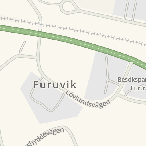 Waze Livemap Driving Directions To Laddplats Furuvik