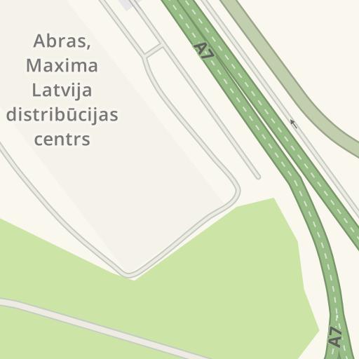 Waze Livemap - Driving Directions to Abras, Maxima Latvija