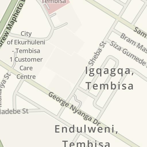 Waze Livemap - Driving Directions to Zebro's Tembi Mall, Igqagqa ...