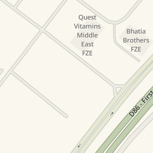 Waze Livemap - Driving Directions to Quest Vitamins Middle East FZE on