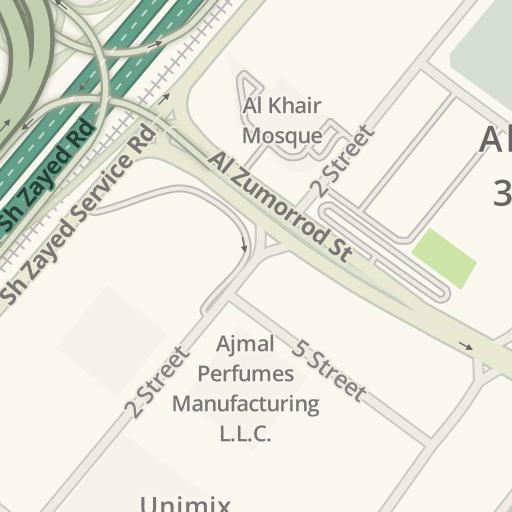 Waze Livemap - Driving Directions to DHL, Al Quoz 1 القوز