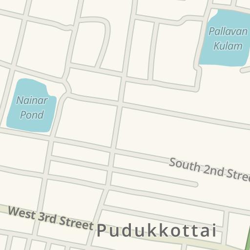 Waze Livemap - Driving Directions to Police Quarters, Pudukkottai, India