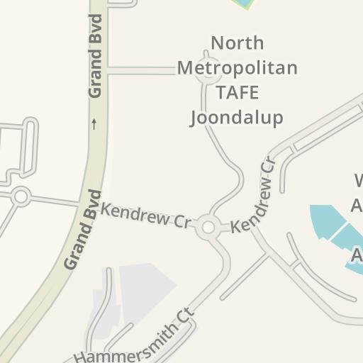 Waze Livemap Driving Directions To Ecu Joondalup Staff Parking No