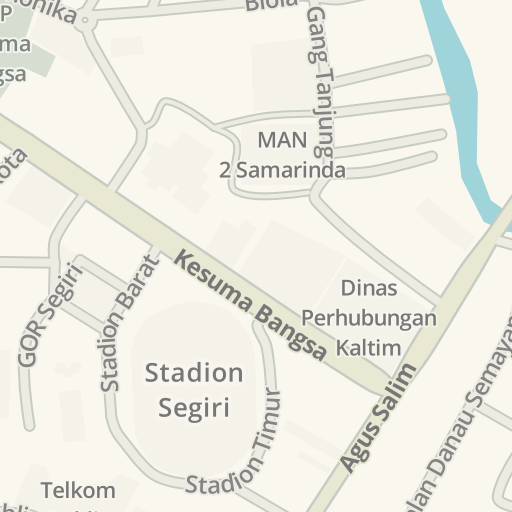 Waze Livemap - Driving Directions to Planet Swalayan, Samarinda ...