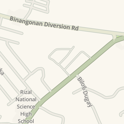 Rizal Philippines Map.Waze Livemap Driving Directions To Rizal National Science High