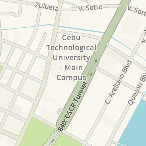 Coa Campus Map.Waze Livemap Driving Directions To Coa R7 Dormitory Cebu City
