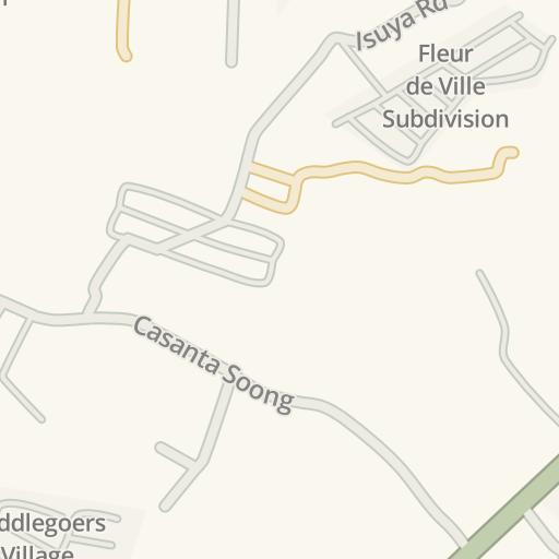 Waze Livemap Driving Directions To Fleur De Ville Subdivision