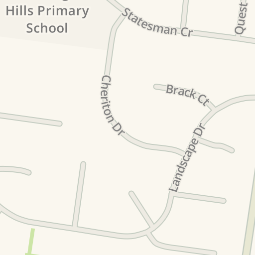 Driving Directions to Rolling Hills Primary School